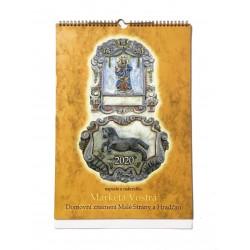 Závěsný kalendář domovní znamení Malé Strany