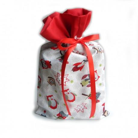 Vánoční pytlíček Sovičky Červenobílé