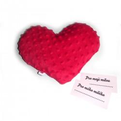 Levandulové srdce červené