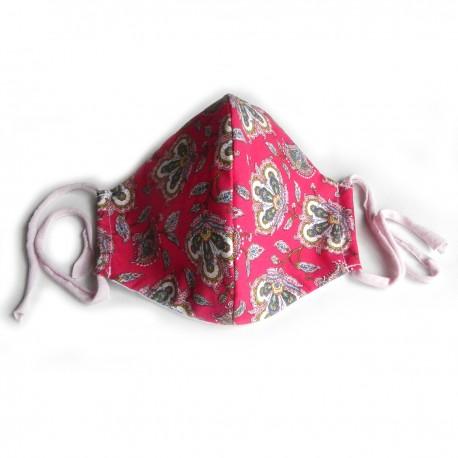 Textilní rouška ornamenty magenta