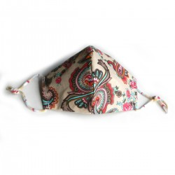 Textilní rouška rúže a ornamenty