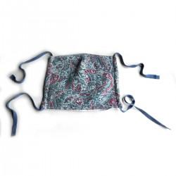 Textilní rouška ornamenty modročervené