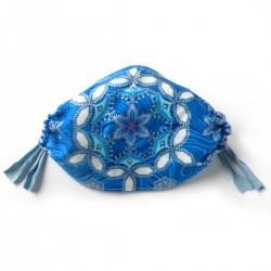 Textilní rouška Stříbrné ornamenty