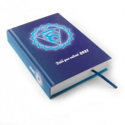 Diář standard 2021 - Modrý s pátou čakrou