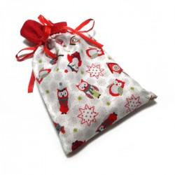 Vánoční pytlíček bílo-červený