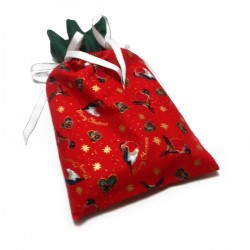 Vánoční pytlíček červeno-zelený