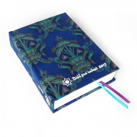 Textilní diář 2019 - Ornamenty modrozelené