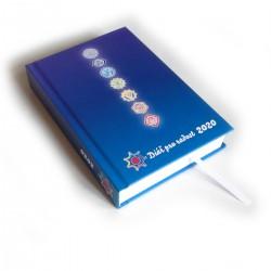 Diář standard 2020 - Modrý se symboly čaker
