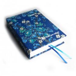 Textilní diář 2020 - Ornamenty modré květy